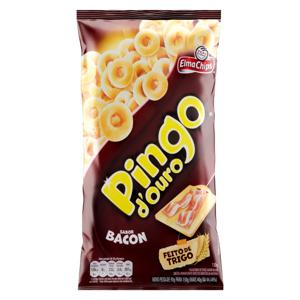 Salgadinho de Trigo Bacon Elma Chips Pingo d'Ouro Pacote 130g
