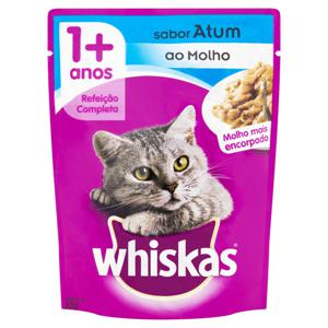 Alimento para Gatos Adultos 1+ Atum ao Molho Encorpado Whiskas Sachê 85g