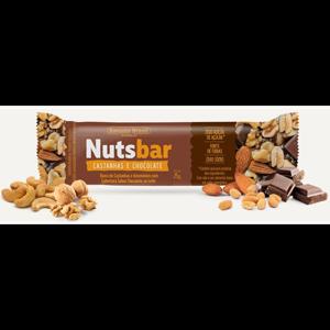 Barra De Castanhas Nuts Bar Castanha e Chocolate Zero Açúcar 2X25G