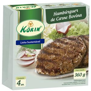 Hambúrguer Bovino KORIN 360g