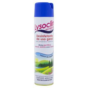 Desinfetante Uso Geral Bactericida Aerossol Frescor da Manhã Lysoclin Frasco 400ml