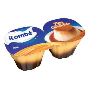 Sobremesa Láctea Flan Calda Caramelo Itambé Bandeja 200g 2 Unidades