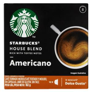 Cápsula Starbucks Americano House Blend Caixa 102g 12 Cápsulas