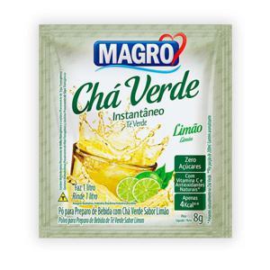Chá verde instantâneo sabor limão Magro - sachê de 8 g