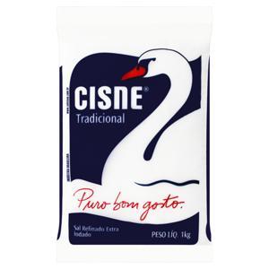 Sal Refinado Extra Iodado Cisne Pacote 1kg