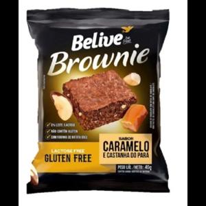 Brownie Proteina Double Caramelo Castanha Sem Lactose Belive 40G