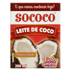 Leite de Coco Tradicional Sococo Caixa 200ml