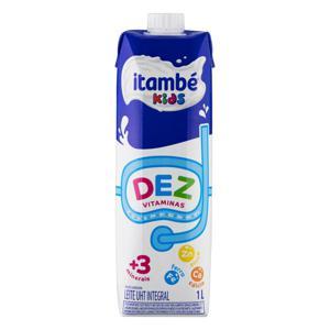 Leite UHT Integral Itambé Kids Dez Vitaminas Caixa com Tampa 1l
