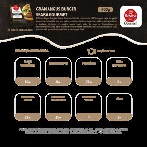 Hamburguer 400/360G Seara Gourmet Angus