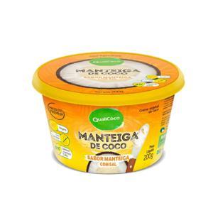 Manteiga de Coco Sabor Manteiga com Sal QUALICÓCO 200g