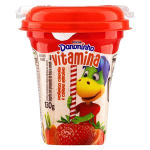 Iogurte Integral Vitamina de Morango, Cenoura e Cereais Danoninho Pote 130g
