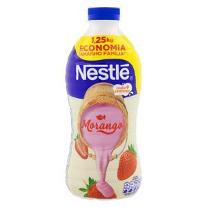 Iogurte Parcialmente Desnatado Morango Nestlé Garrafa 1,25kg Tamanho Família