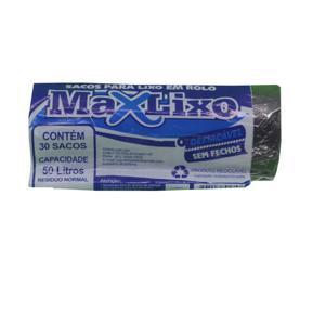 Saco para Lixo MAXLIXO Roll Preto 50L com 30 Unidades