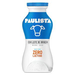 Leite Fermentado Batido Zero Lactose Paulista Frasco 170g