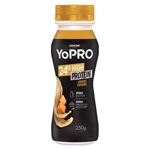 Iogurte Cookies Caramel Zero Lactose YoPRO 24g High Protein Frasco 250g