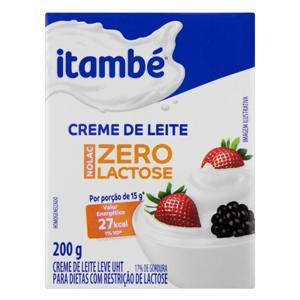 Creme de Leite UHT Leve Homogeneizado Zero Lactose Itambé Nolac Caixa 200g