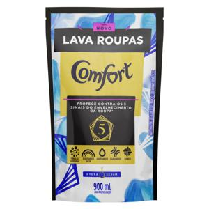 Lava-Roupas Líquido Comfort Hydra Sérum Sachê 900ml Refil