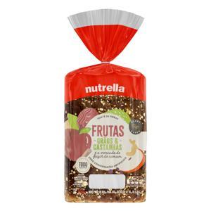 Pão Frutas, Grãos & Castanhas Nutrella Pacote 550g