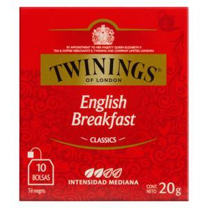 Chá Preto English Breakfast Twinings Classics Caixa 20g 10 Unidades