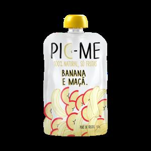 Purê De Frutas 100G Pic-me Banana e Maçã
