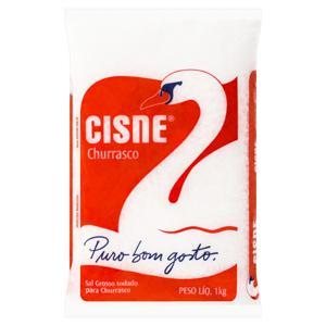 Sal Grosso Iodado para Churrasco Cisne Pacote 1kg
