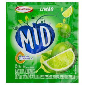 Refresco em Pó Limão Mid Pacote 25g