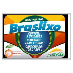 Saco para Lixo BRASLIXO 100L com 5 Unidades
