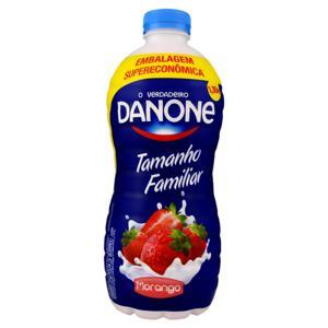 Iogurte Integral Morango Danone Garrafa 1,35kg Embalagem Supereconômica