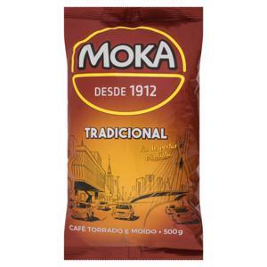 Café Torrado e Moído Tradicional Moka Pacote 500g