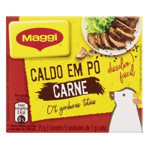 Caldo em Pó Carne Maggi Caixa 35g 5 Unidades