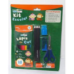 Kit Escolar Leo&Leo 20 Pecas