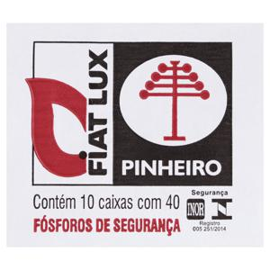 Fósforo de Segurança Fiat Lux Pinheiro 10 Unidades