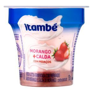 Bebida Láctea Fermentada Morango Calda Morango Itambé Pote 130g