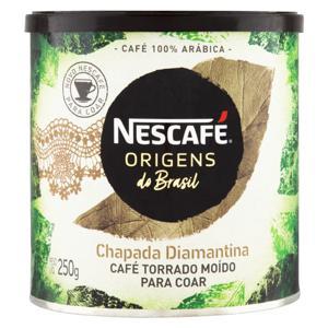 Café Torrado e Moído Chapada Diamantina Nescafé Origens do Brasil Lata 250g