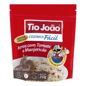 Arroz com Tomate e Manjericão Tio João Cozinha Fácil Pacote 250g 2 Unidades