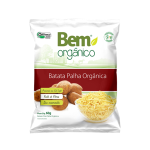 Batata Palha Orgânica 60g - Bem Orgânico