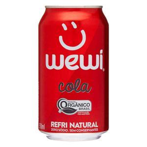 Refrigerante Cola Orgânico WEWI Lata 350ml