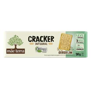 Biscoito Cracker Integral Gergelim Orgânico 130g - Mãe Terra