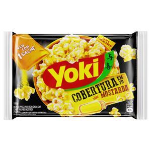 Pipoca para Micro-Ondas Cobertura Mostarda Yoki Pacote 100g
