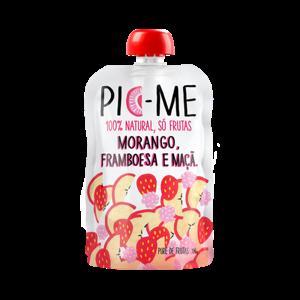 Purê De Frutas 100G Pic-me Morango, Framboesa e Maçã