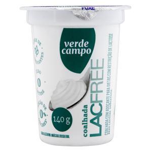 Coalhada com Adoçante Desnatada Zero Lactose Verde Campo Lacfree Copo 140g