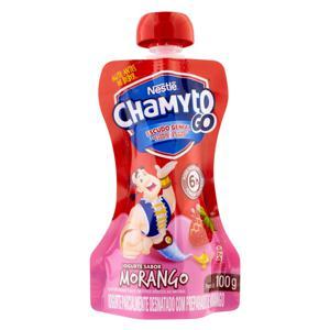 Iogurte Parcialmente Desnatado Morango Nestlé Chamyto Go Squeeze 100g