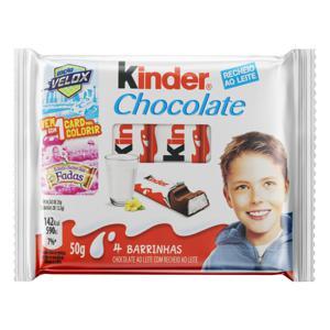Chocolate ao Leite Kinder Edição Reino das Fadas Pacote 50g 4 Unidades