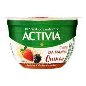 Leite Fermentado Integral Quinoa & Frutas Vermelhas Activia Café da Manhã Pote 170g