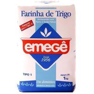 Farinha de Trigo EMEGÊ 1Kg