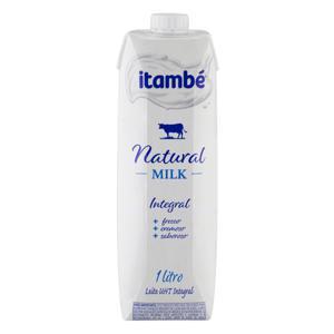Leite UHT Integral Itambé Natural Milk Caixa com Tampa 1l