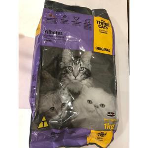 THREE CATS Original Filhotes Pequenos/Mini 1Kg