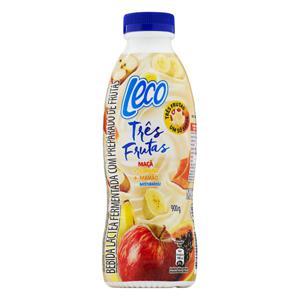 Bebida Láctea Fermentada Maçã, Banana e Mamão Leco Três Frutas Garrafa 900g