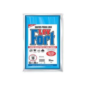 Saco de Lixo LEVFORT Azul 50L com 10 Unidades