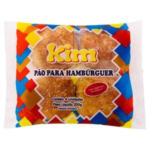 Pão para Hambúrguer com Gergelim Kim Pacote 200g